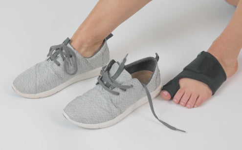 Bunion splint can be worn in any shoe styles
