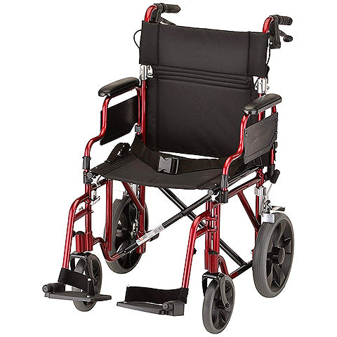 "Lightweight Transport Chair w/12"" Rear Wheels by NOVA Medical Products"