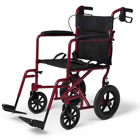 Lightweight Folding Wheelchair with Handbrakes by Medline