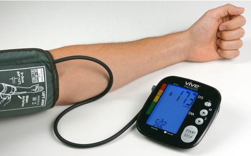 Tracking blood pressure with blood pressure monitor