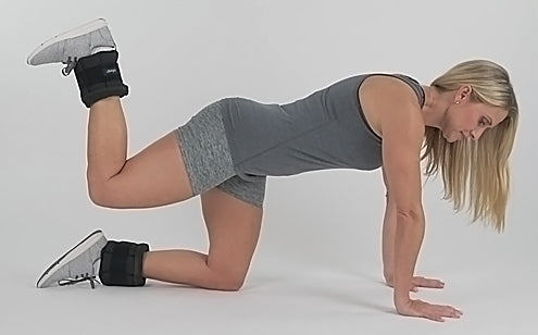 hamstring exercises with ankle weights