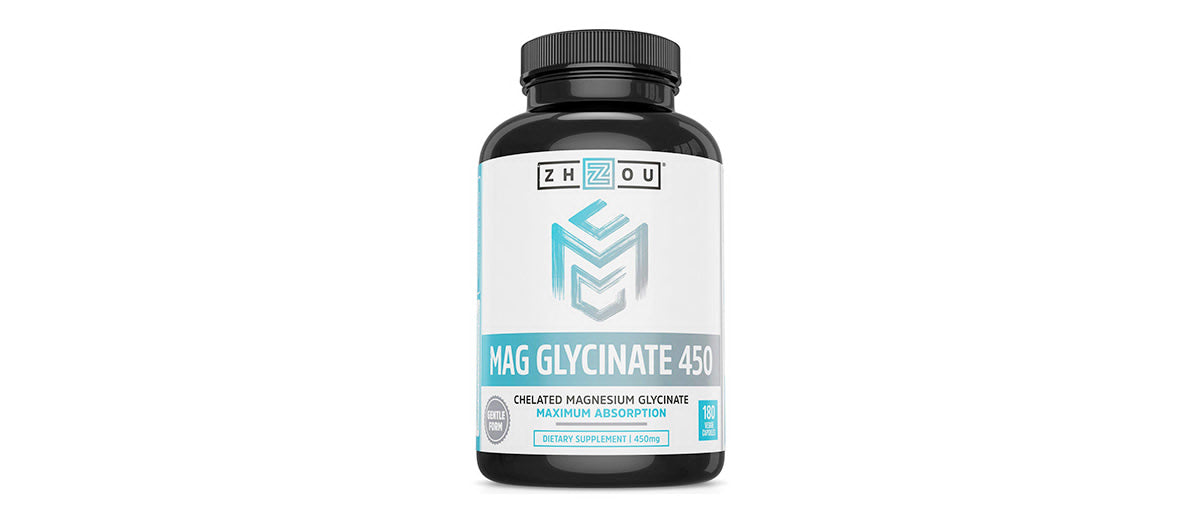 Magnesium Glycinate Chelate 450mg by Zhou Nutrition