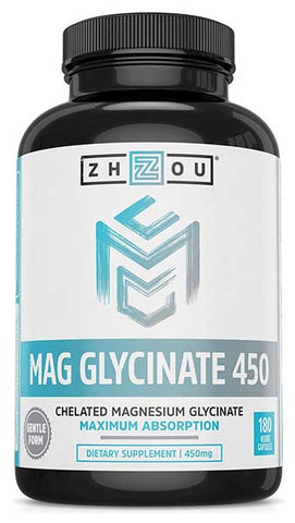Magnesium Glycinate Chelate by Zhou Nutrition