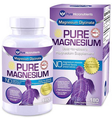 Magnesium Glycinate Supplement by Pure Micronutrients