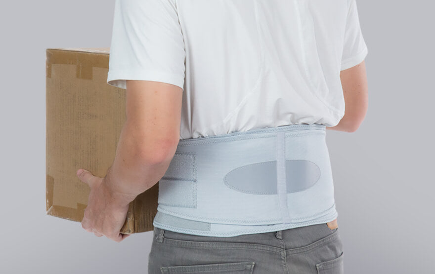 lifting box with back brace