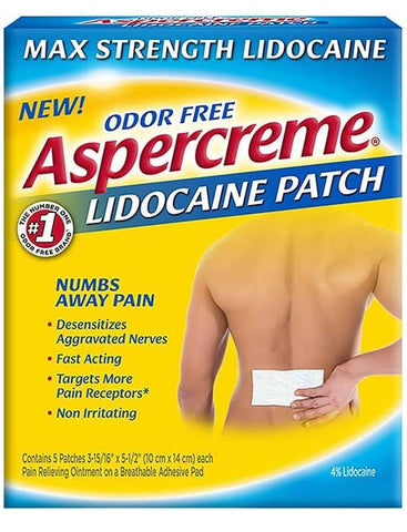 Max Strength Pain Relieving Lidocaine Patch by Aspercreme
