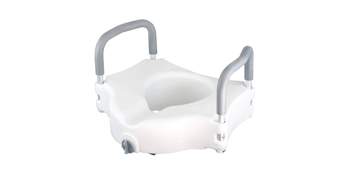 Vaunn Medical Elevated Raised Toilet Seat & Commode Riser