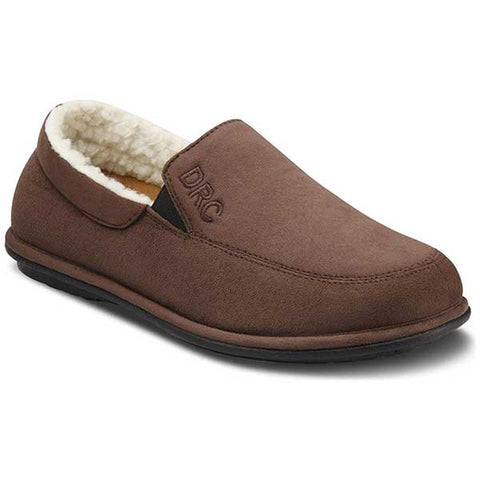 Men's Relax Chocolate Diabetic Slippers by Dr. Comforts