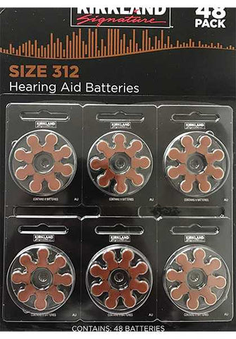Mercury Free Hearing Aid Batteries by Kirkland Signature