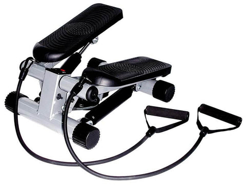Mini Stepper with Resistance Bands by Sunny Health & Fitness