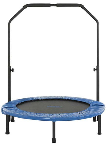 Mini Trampoline with Adjustable Handrail by Upper Bounce