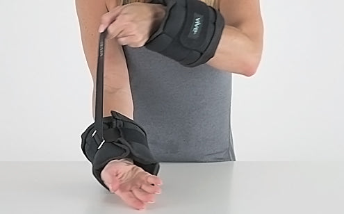 adjusting wrist weights on wrists