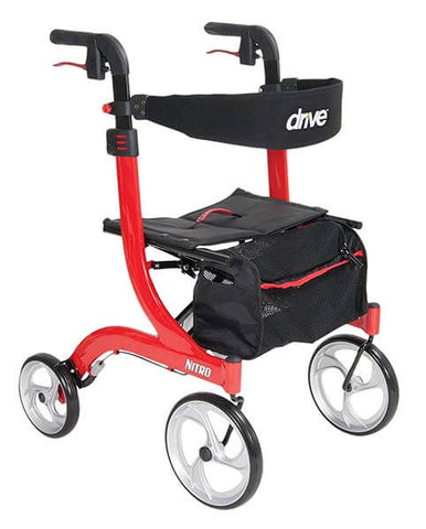 Nitro Euro Style Red Rollator by Drive Medical