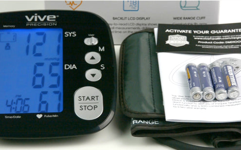 Blood pressure monitor including batteries & armcuff