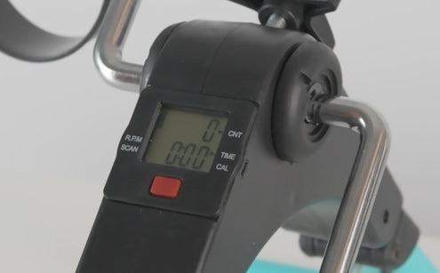 Pedal exerciser with lcd diplay feature