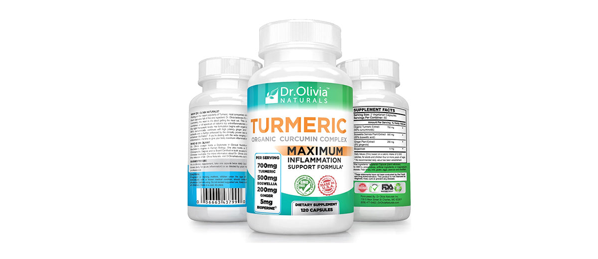 Organic Turmeric Curcumin w/ Ginger by Dr. Olivia Naturals