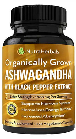 Organic Ashwagandha Supplements by NutraHerbals
