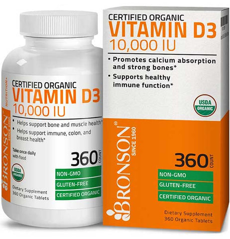 Organic Vitamin D Supplement by Bronson