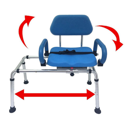 Padded Transfer Bench and Bath and Shower Chair by Platinum Health