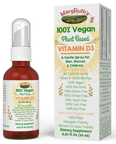 Plant Based Vitamin D Spray by MaryRuth Organics