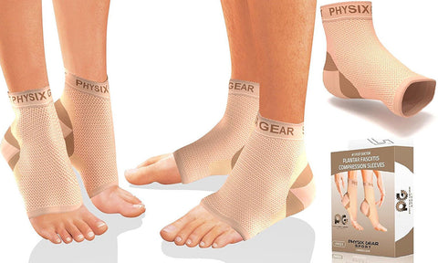 Plantar Fasciitis Socks with Arch Support by Physix Gear Sport