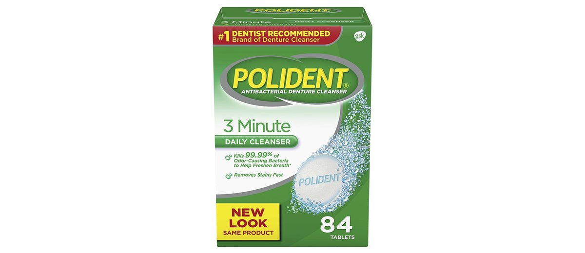 Polident 3 Minute Denture Cleanser by Polident