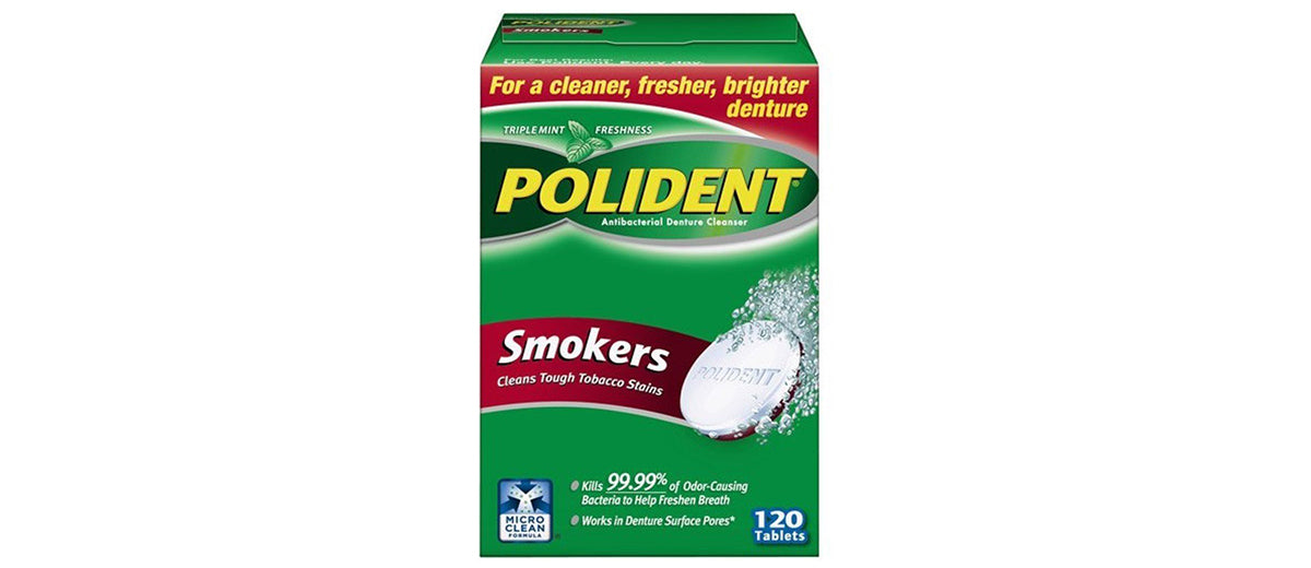 Polident Smokers Denture Cleanser by Polident