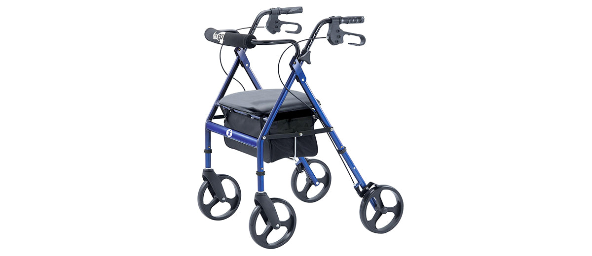 Portable Rollator Walker with Seat by Hugo Mobility