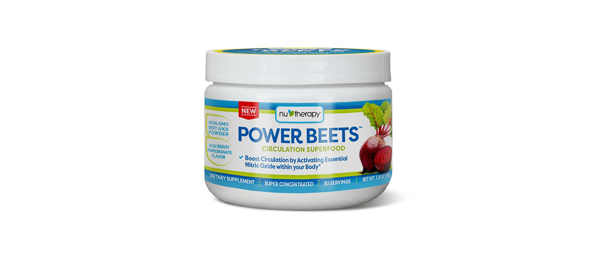 Power Beets Super Concentrated Circulation Superfood Dietary Supplement by Nu-Therapy