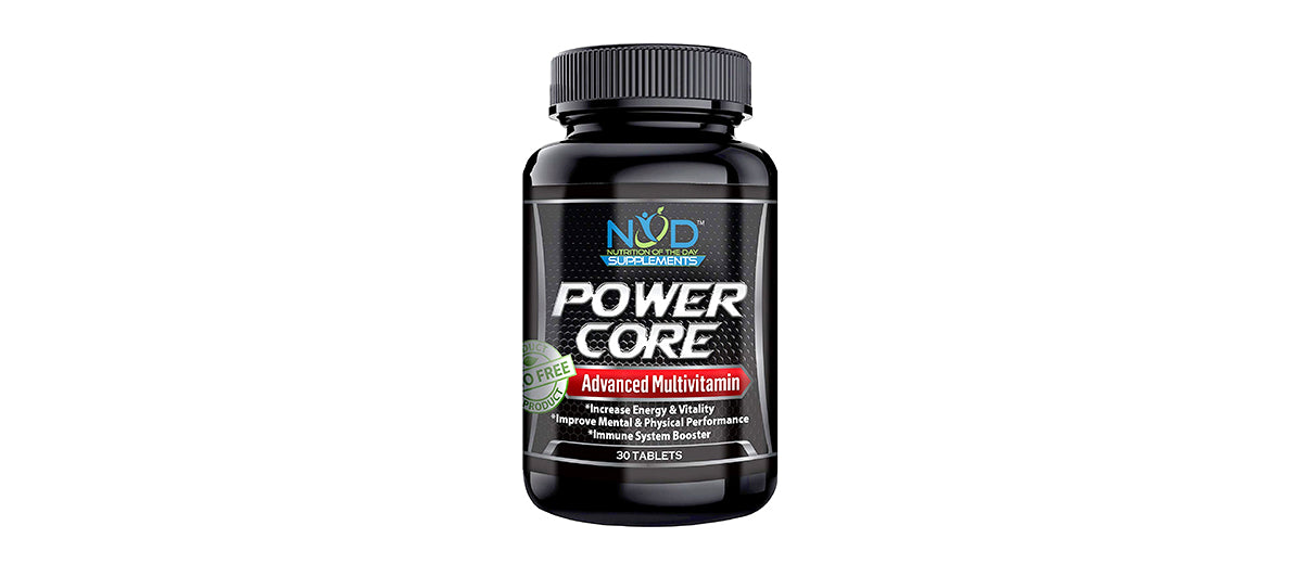 Power Core Multivitamin for Men and Women for Energy & Nutrition by NOD Supplements