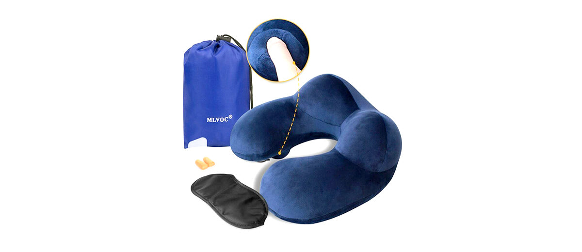 Push-Button Inflatable Pillow by MLVOC
