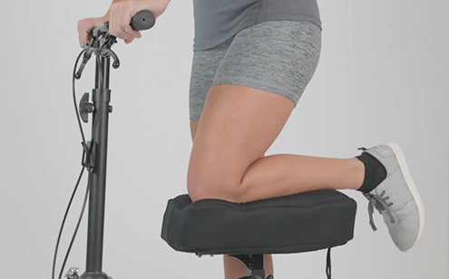 Using knee scooter with memory foam knee pad
