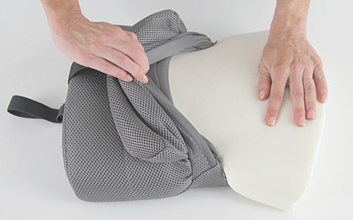 Back pillow inside foam