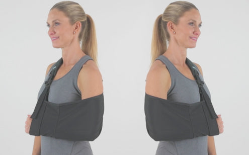 Arm sling with reversible feature