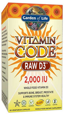 Raw Whole Food Vitamin D3 Supplements by Garden of Life