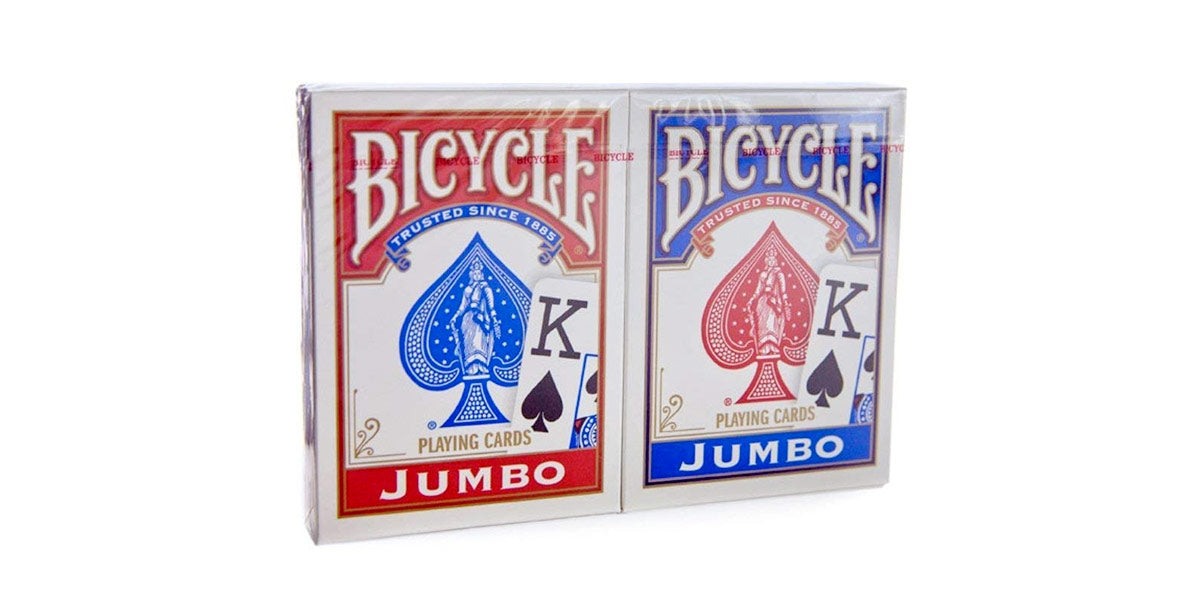 Red & Blue Jumbo Index Playing Cards