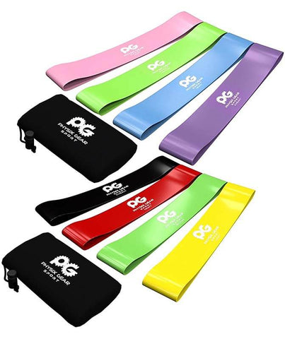 Resistance Loop Bands x 4 by Physix Gear Sport