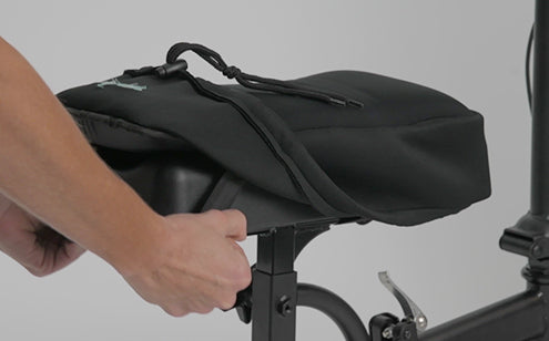 Intalling memory foam knee scooter pad