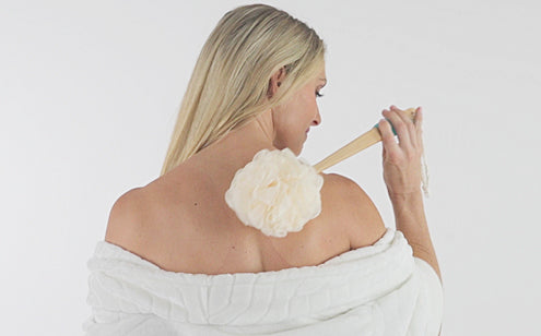 soft mesh loofah head