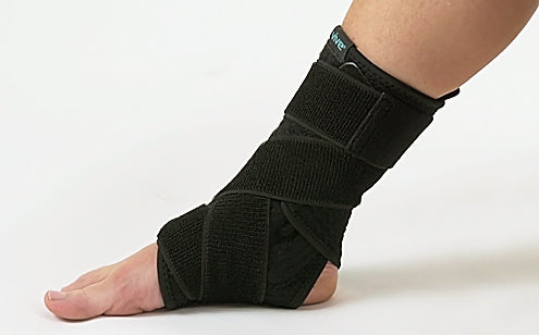 Foot wearing ankle brace support