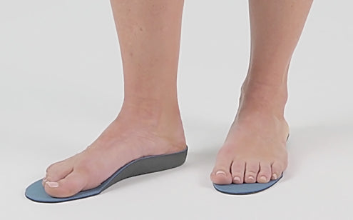 Stepping in full length insoles