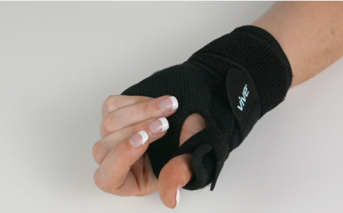 Right hand wearing thumb splint