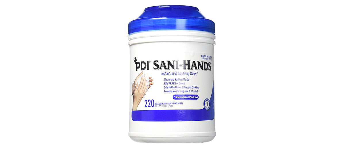 Sani-Hands Antimicrobial Gel Wipes by PDI