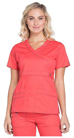 Scrubs Women's Gen Flex Mock Wrap Shirt by Dickies