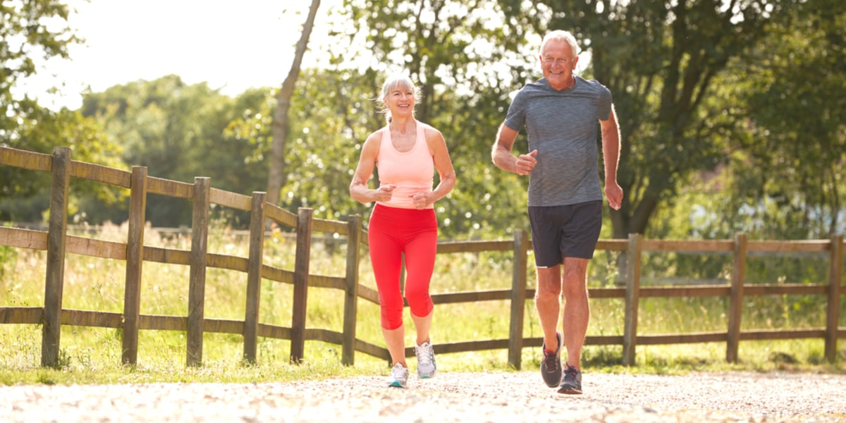 Senior Couple Enjoying Run Together