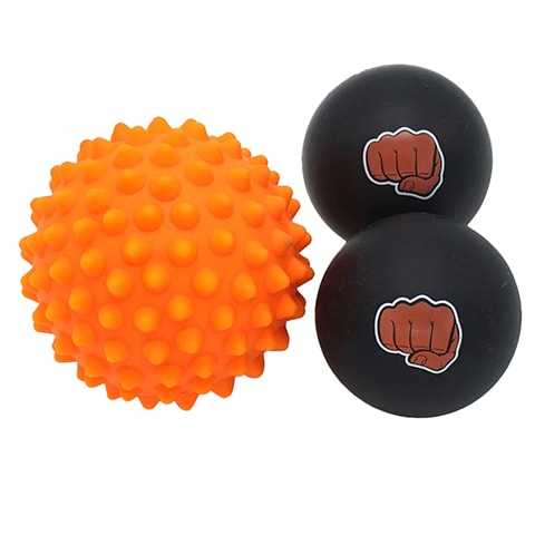 Set of Spiky and Smooth Massage Balls by WOD Nation