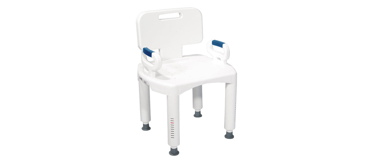 Shower Chair with Back and Arms by Drive Medical