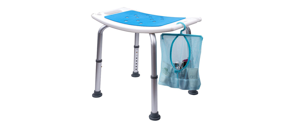 Shower Stool with Padded Seat by Medokare