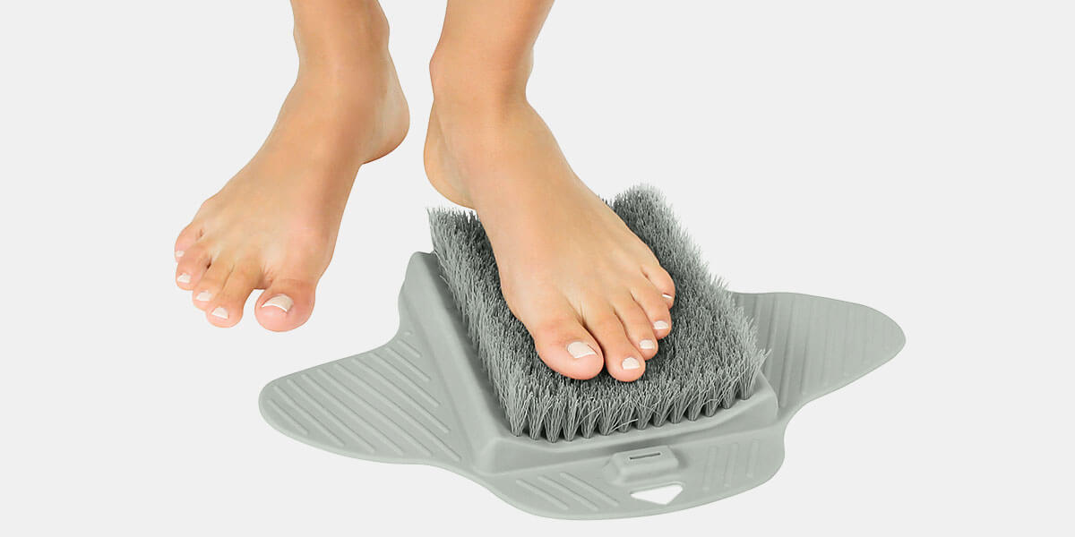 Shower Foot Scrubber by Vive