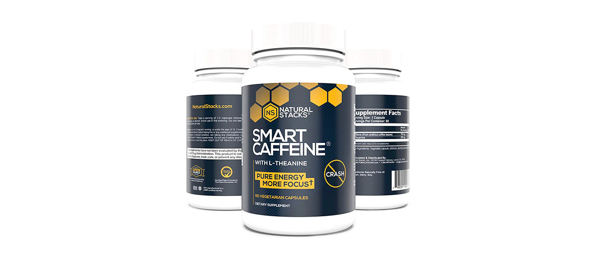 Smart Caffeine Energy Supplement by Natural Stacks
